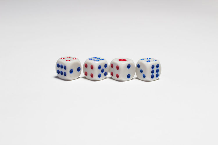 Casino Fun Las Vagas NV Lucky RISK Betting Business Finance And Industry Chance Close-up Copy Space Day Dice Entertainment Gambling Gambling Addiction Leisure Games Loss Luck No People Studio Shot Success White Background