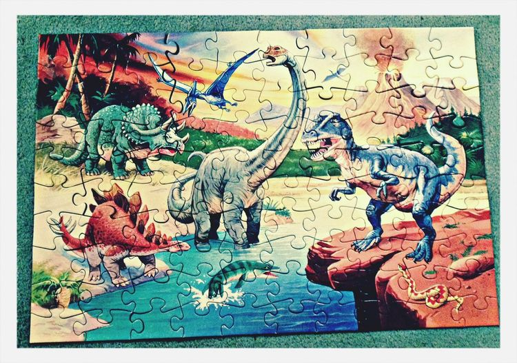 Dinosaur Puzzle  Best Friends Hanging Out