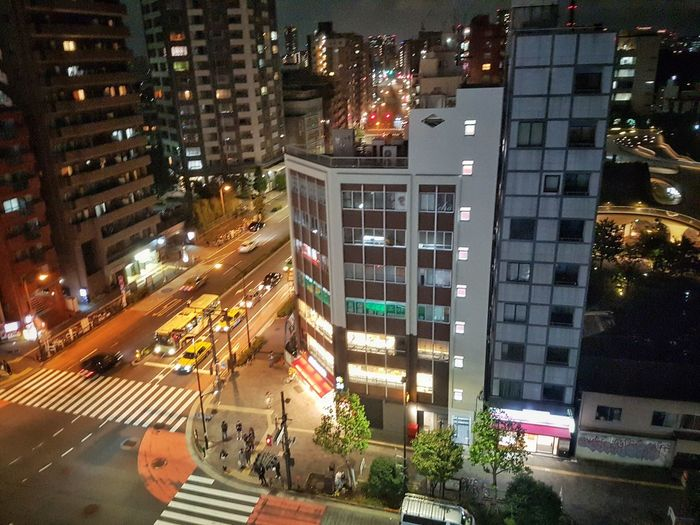 Hotel view Illuminated City Night Architecture Skyscraper Building Exterior Built Structure Travel Destinations High Angle View Motion Cityscape Traffic Transportation City Life Road Business Finance And Industry Modern Outdoors Japan Cityscape City Tokyo