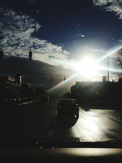 Beautiful Thursday. Tacoma_WA Ttown Mytown Redlight Sunrise Stoplight EyeEm Best Shots GoingToWork Intersection Stop