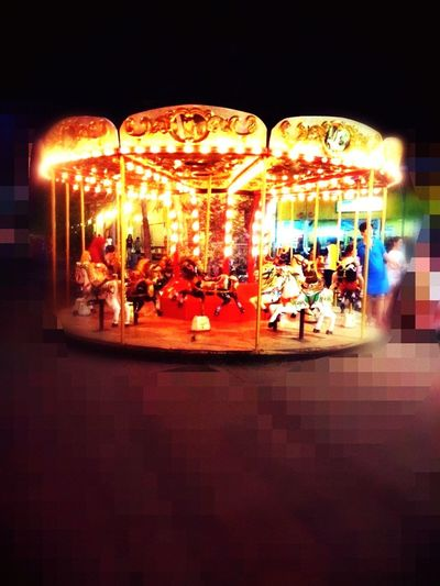 Carnival Party Carousel SurabayaCarnivalNight Kids Playing Taking Photos