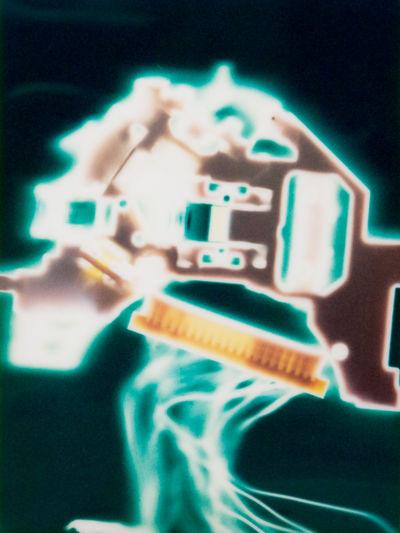 METAMEMORY (6) Macro Photography StillLifePhotography Utopia Biomorphic Broken Display Cameraless Photography Circuit Board Computer Part Digital Memory Dystopia Fuji Instax Hightech Instantfilm Landscapes Luminogram Luminography Memory Mountains Organic Photogram Smartphone Parts Still Life Technologic Technology Uncertain Future The Still Life Photographer - 2018 EyeEm Awards