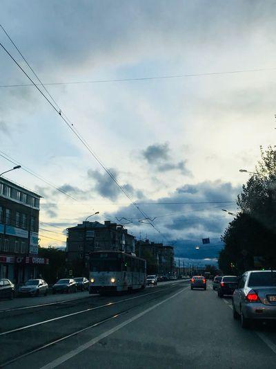 Izhevsk Cloud - Sky Sky Car Transportation Motor Vehicle Mode Of Transportation City Architecture Street Building Exterior