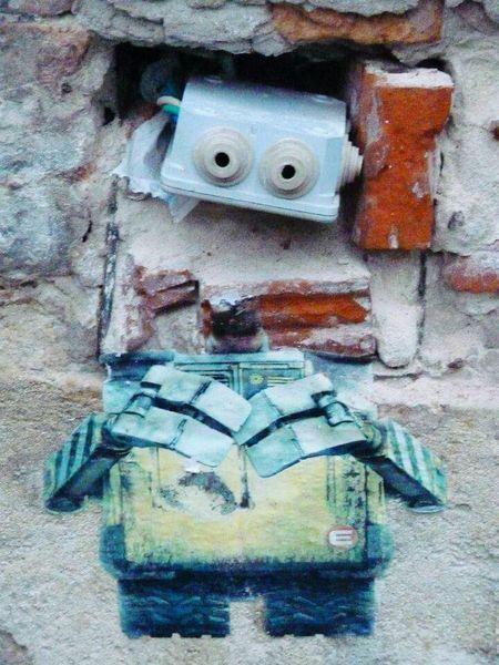 Hello Robot Wall Art Bratislava City!