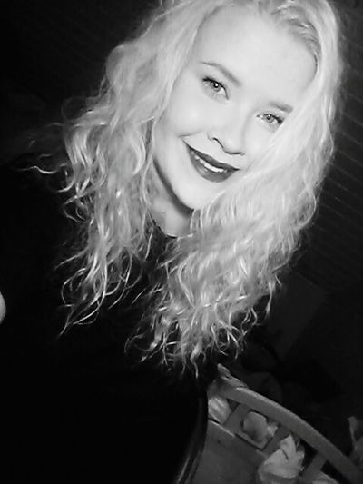 Begin your day with a Smile That's Me Check This Out Hello World Taking Photos Selfie ✌ Curly Hair Lipstick Blackandwhite