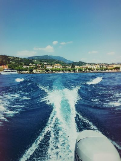 Outdoor Photography Water No People Blue Sky Weather Sunlight Sea Day Boat Building Outdoors Sky Travel Destinations Daylight Italy Wave