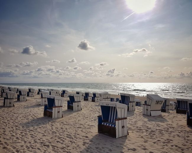 Westerland Samsung Galaxy S7 Edge Summer Westerland Sylt, Germany Water Sea Beach Sand Summer Protection Sunny Sky Horizon Over Water Cloud - Sky Hooded Beach Chair Outdoor Chair