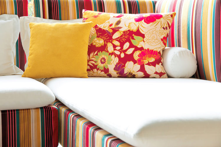 Close-up of multi colored bed