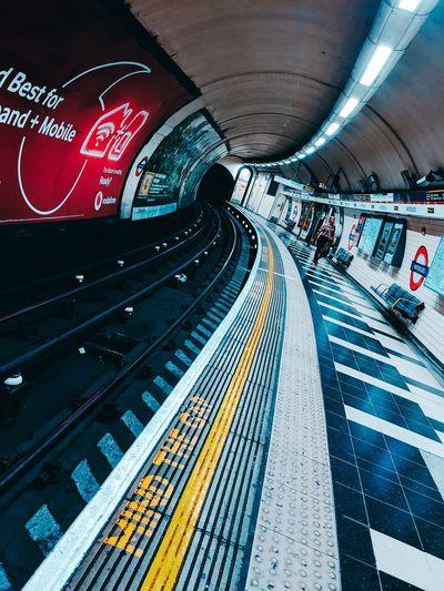 High angle view of subway station