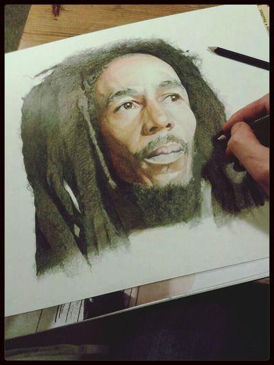 Drawing Art Portrait Check This Out bob marley colour pencil portrait