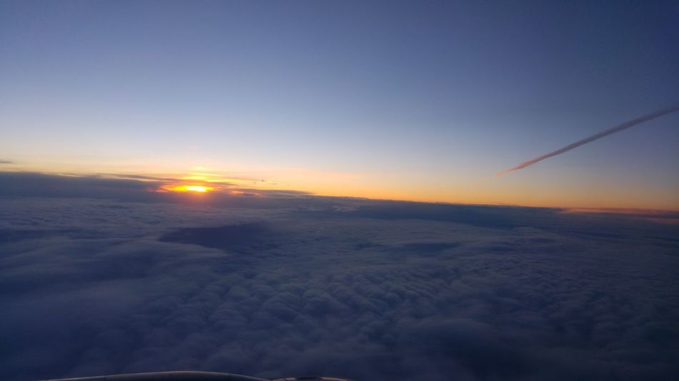 Sunrise from plane Sun Sunrise Plane Clouds And Sky Apocalyptic Coloroflife