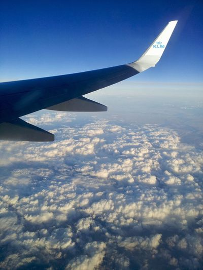 KLM Airplane Air Vehicle Flying Cloud - Sky Aircraft Wing Transportation Mode Of Transportation Airplane Air Vehicle Flying Cloud - Sky Aircraft Wing Transportation Mode Of Transportation Sky No People