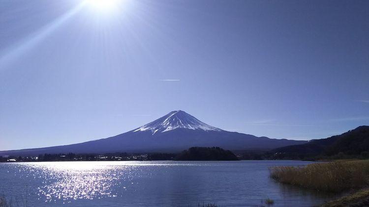 富士山 山中湖 Mt.Fuji Lake Yamanaka Mountain Water Lake Nature No People