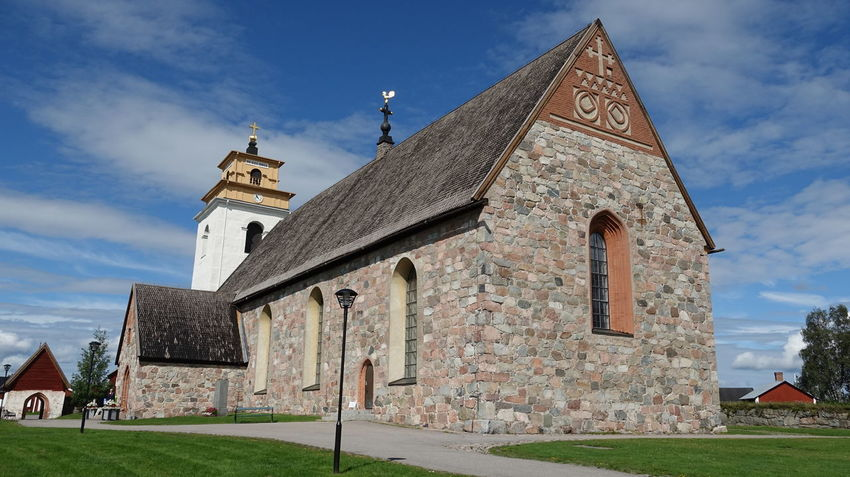 Nederlula Church in Gammelstad Church Town Architecture Clock Cross Day Eyemtravel No People Outdoors Place Of Worship Religion Sky Spirituality Swedish Lapland Unesco World Heritage