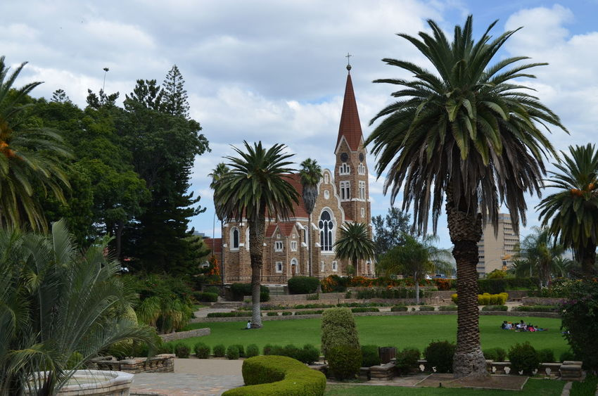 Architecture Cathedral Church Day Namibia No People Outdoors Palm Tree Sky Tree Windhoek