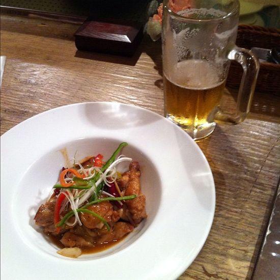 Tokyo Minatoku Kirin Kirinbeer chili chicken oishii