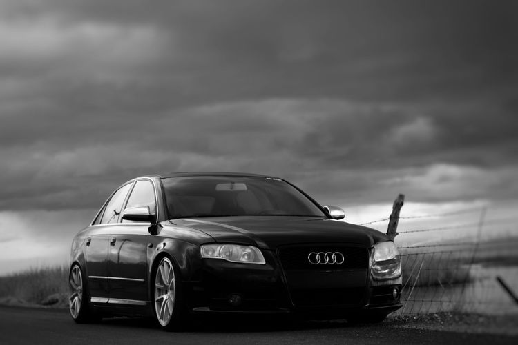 Welcome To Black Audi A4 German Engineering Audilove Audia4 Low_restriction Cloudy Sky Rotiform Audib7 Audi Lowdaily