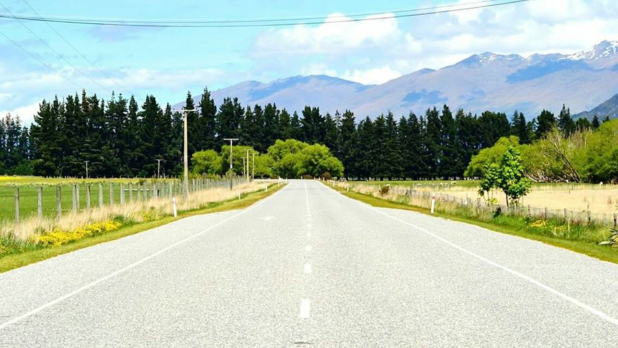 The Way Forward Road Tree Diminishing Perspective Mountain Landscape Sky Nature Scenics Outdoors Empty Road Remote