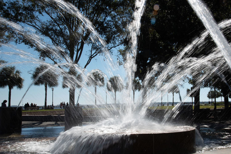 Water Motion Nature Long Exposure Plant Scenics - Nature Day Blurred Motion Fountain Beauty In Nature No People Flowing Water Spraying Outdoors Splashing Park Falling Water