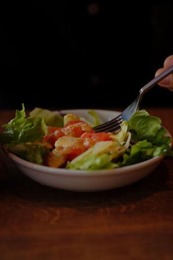 Enjoying A Meal Healthy Eating Salad Vegetables Foodporn Fujifilm Fujifilm_xseries Xf60 Pro Neg. Hi The Purist (no Edit, No Filter) A Taste Of Life
