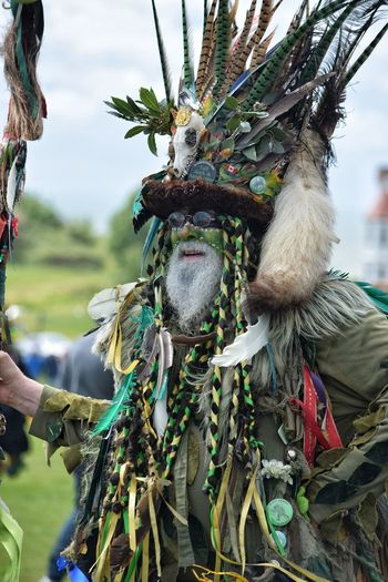 Jack In The Green Jack In The Green Festival Hastings East Sussex Green Man Costume May Day 2017 Face Make Up May Day Festival Tree One Man Only Close-up Nature May Festival Pagan Outdoors Bearded Man Man Green Celebration Parade Beard Nature Green Face