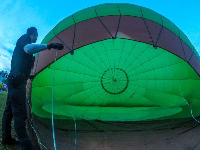 Setup Festival Fiesta Hot Air Balloon Work Force