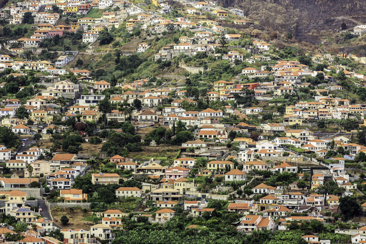 Aerial View Architecture Building Exterior Built Structure City Life Cityscape Crowded Day Development Green Color High Angle View House Houses And Windows Madeira Madeira Island No People Outdoors Residential Building Residential District Residential Structure Scenics Town Wide Wide Shot