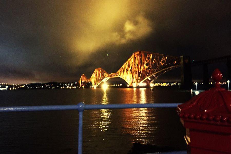 Night shot postbox, red,nice sky. Architecture I Phone 6s Edinburgh South queensferry. Scotland
