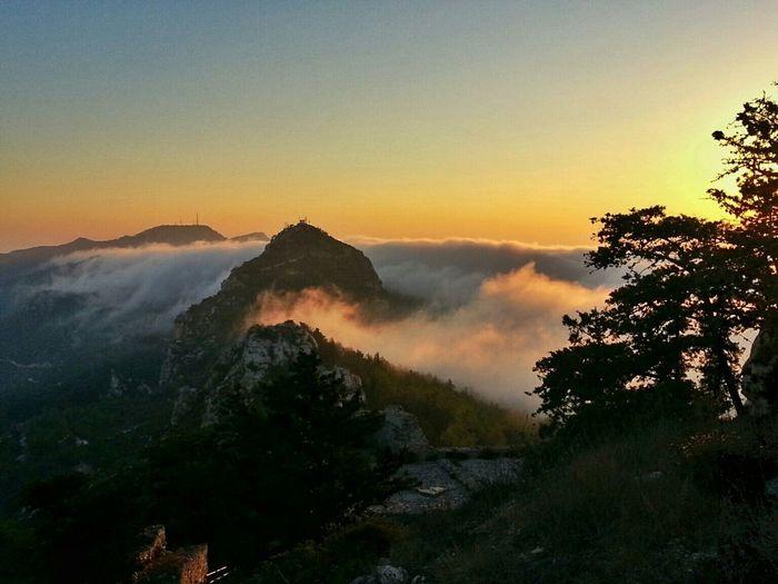 Relaxing Travelling Sunset Kantara Castle No Filter Summer Views Cyprus Kibris Weather