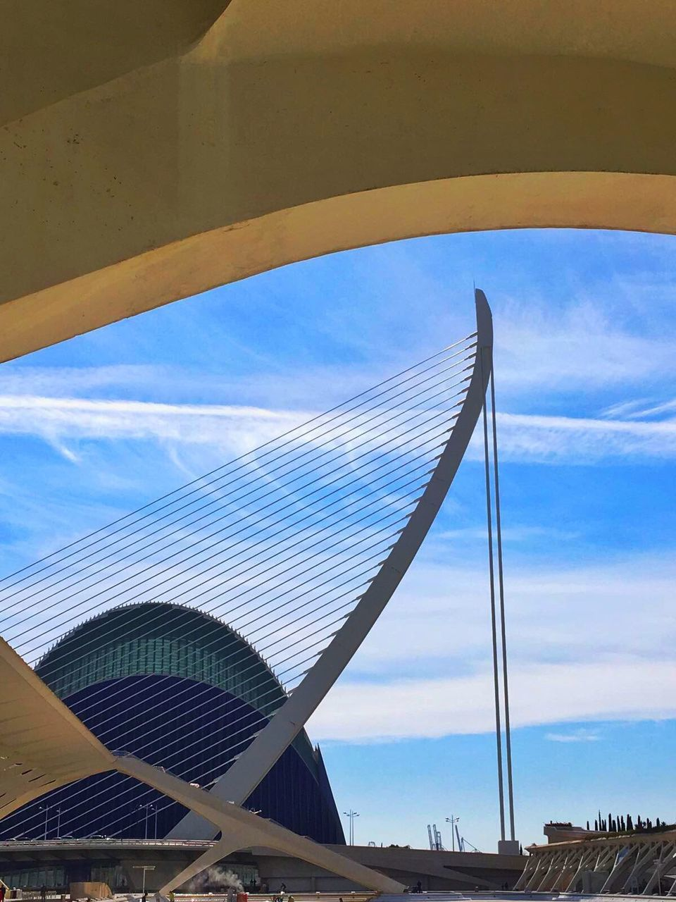 sky, blue, no people, day, built structure, low angle view, architecture, outdoors, cloud - sky, building exterior, nature