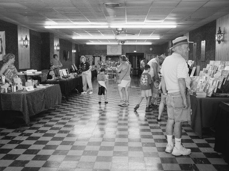 Old Settlers Picnic - Village of Western, Nebraska July 15, 2017 Americans Camera Work Contact Sheet Craft Show EyeEm Best Shots Getty Images Nebraska Photo Essay Rural America Small Town America Storytelling Summertime Village Of Western, Nebraska Visual Journal Always Taking Photos Blackandwhite Day Events Eye For Photography Fujifilm_xseries Full Length Indoors  Large Group Of People Leisure Activity Lifestyles Market Men Old Settlers Picnic People Photo Diary Real People Retail  Small Town Life Small Town Stories Standing Village Life Women