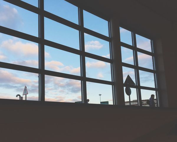Broken. Window Sky Architecture Cloud - Sky Indoors  Day Signs Still View Looking Out Of The Window Square