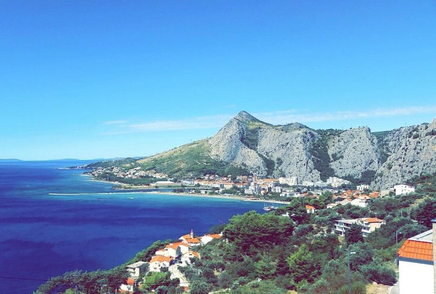 🏞 Very Meer See My World My Life Travel Kroatien Cro Omis Croatia Mountain Blue Nature Scenics Sea Beauty In Nature EyeEm Ready   Water Sky Clear Sky EyeEmNewHere EyeEmNewHere EyeEmNewHere