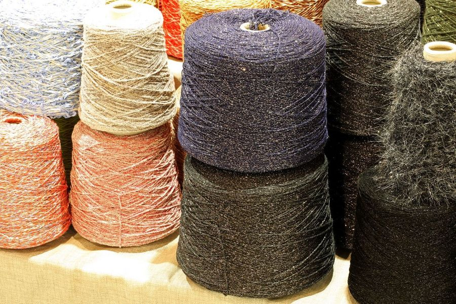 much skeins of wool in the haberdashery for sale Set A Lot Of Backdrop Background Backgrounds Choice Collection Commerce Commercial Cotton For Sale Group Haberdashery Many Much Retail  Skein Skeins Spool Still Life Texture Variation Warehouse Wool Woolen