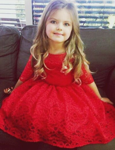My Younger Sister Cute Girl♥ Children People Red Dress My Princess <3 Love Her Beautiful Child Blonde Girl