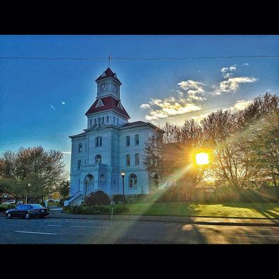 The County Courthouse. OSU Oregonstateuniversity Corvallis Oregon Sunny SunLight