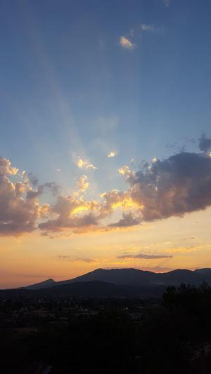 Sunset Sunrays Mountain Range Mountain Sunset Clouds And Sky Beautiful Sunset Turkey üzümlü Fethiye Natures Beauty Natural Beauty Travel