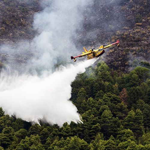 Mountain rescue for fire