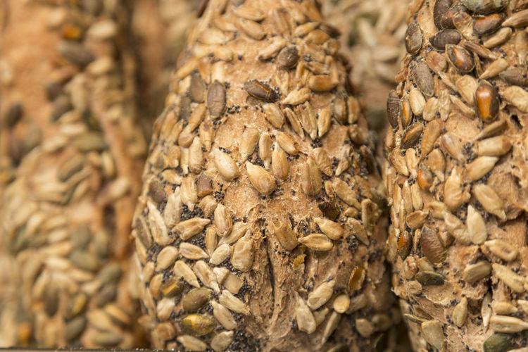 Detail of artisan gluten free seed bread