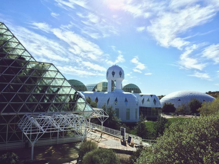 ⚛️ Built Structure Science And Technology Architecture Sky Dome Outdoors Tucson Arizona  Biosphere 2