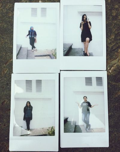 Self Portrait Around The World with my friends😁 Poloroid
