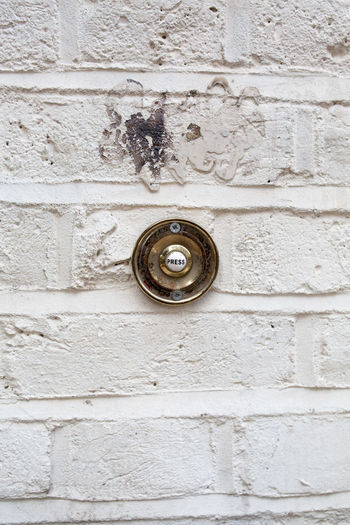 Backgrounds Brick Wall Buzzer Close-up Day Doorbell Full Frame Nature No People Ornate Outdoors Press Press Button