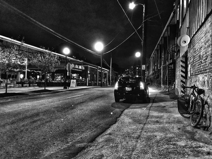 Blackandwhite Bicycle Street Light