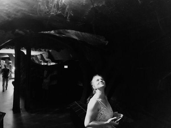 Zoo Schönbrunn Vienna Austria Aquarium Woman One Person Real People Lifestyles Indoors  Water Beautiful Woman