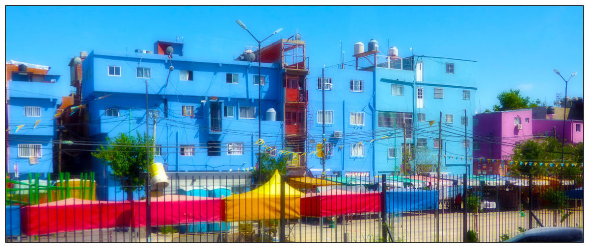 Argentina BYC Bernardo Day Built Structure Architecture Building Exterior City Immeubles Villa Buenos Aires Colores Colors Couleurs Painted Houses Poverty Bidonville Shantytown Sky No People Panoramic Outdoors Clear Sky Building EyeEmNewHere