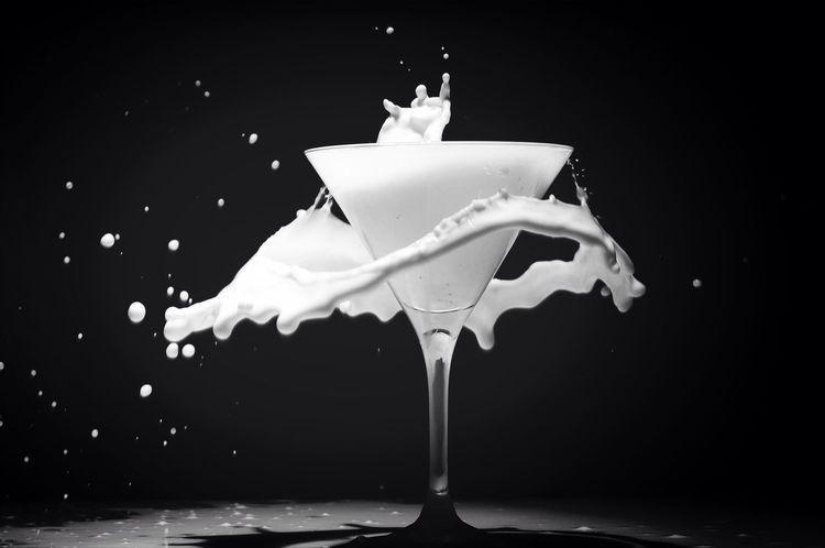 Still Life Milk Black & White Beautiful