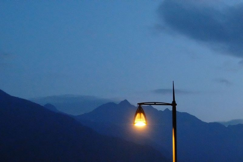 Mountain View Night Streetlight Valtellina Sondrio Summer Fujifilm XQ2