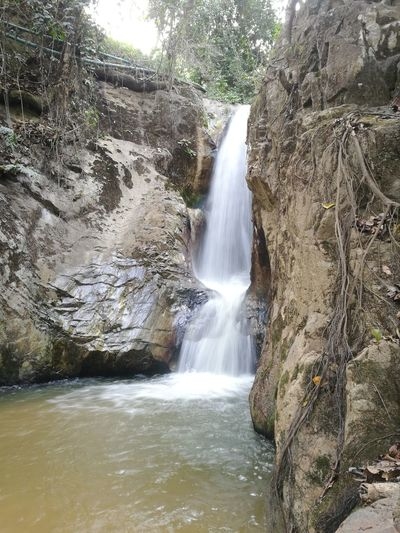 Waterfall Waterfall Motion Water Nature Outdoors Day Beauty In Nature No People Scenics Tree