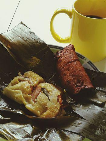 Close-up Food Cafe Tamal Diciembre