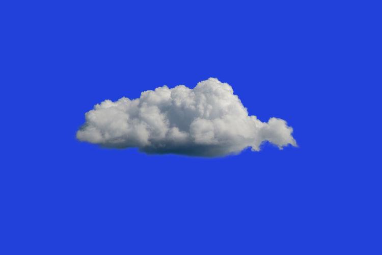 Close-up of clouds in blue sky